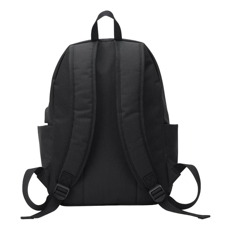 small black backpack back