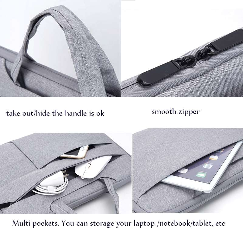 laptop sleeve with handle multi pockets