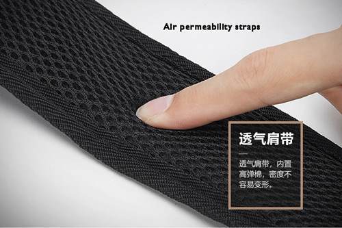 breathable backpack strap