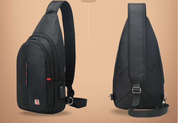 Single strap backpack for school