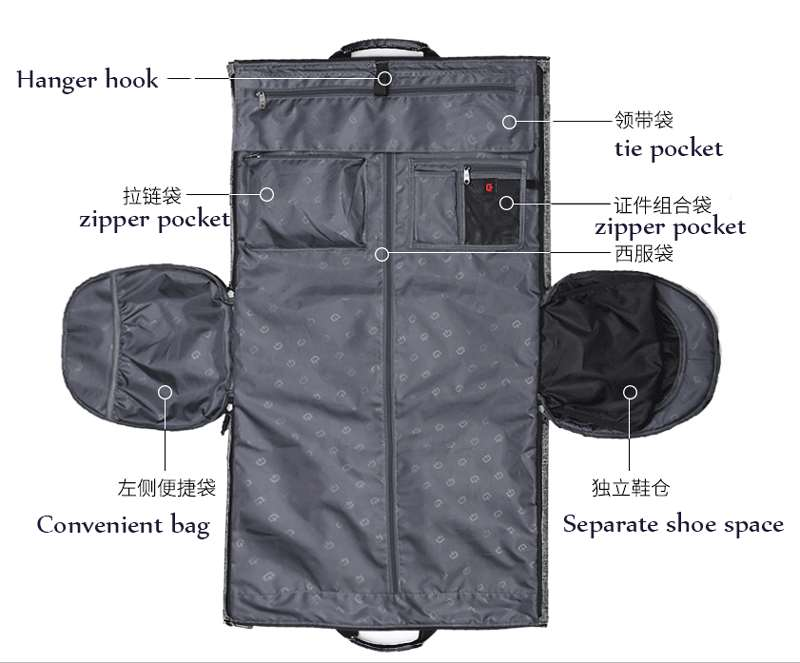 Large garment bag capacity