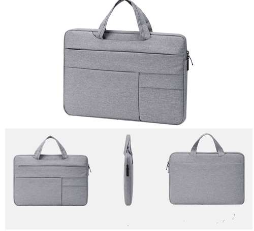Gray laptop sleeve